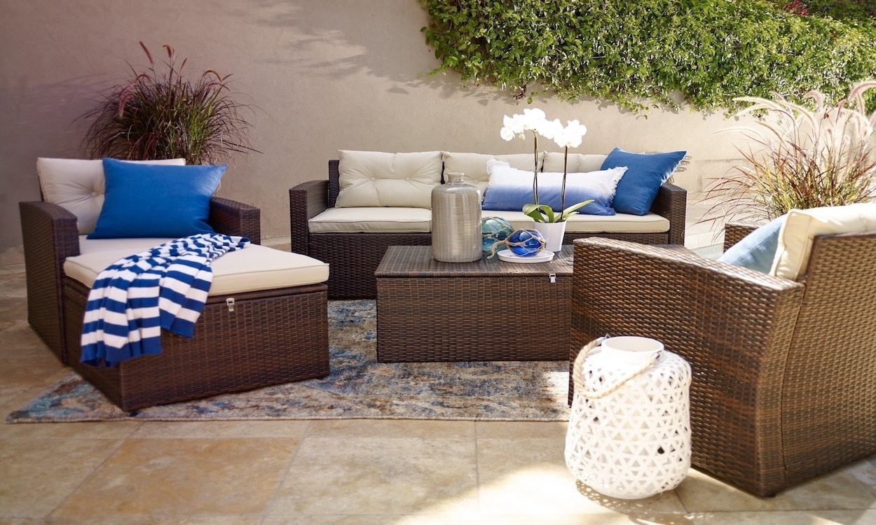Recent Patio Umbrellas For Small Spaces Throughout How To Choose Summer Patio Furniture For Small Spaces Overstock Set (View 9 of 20)
