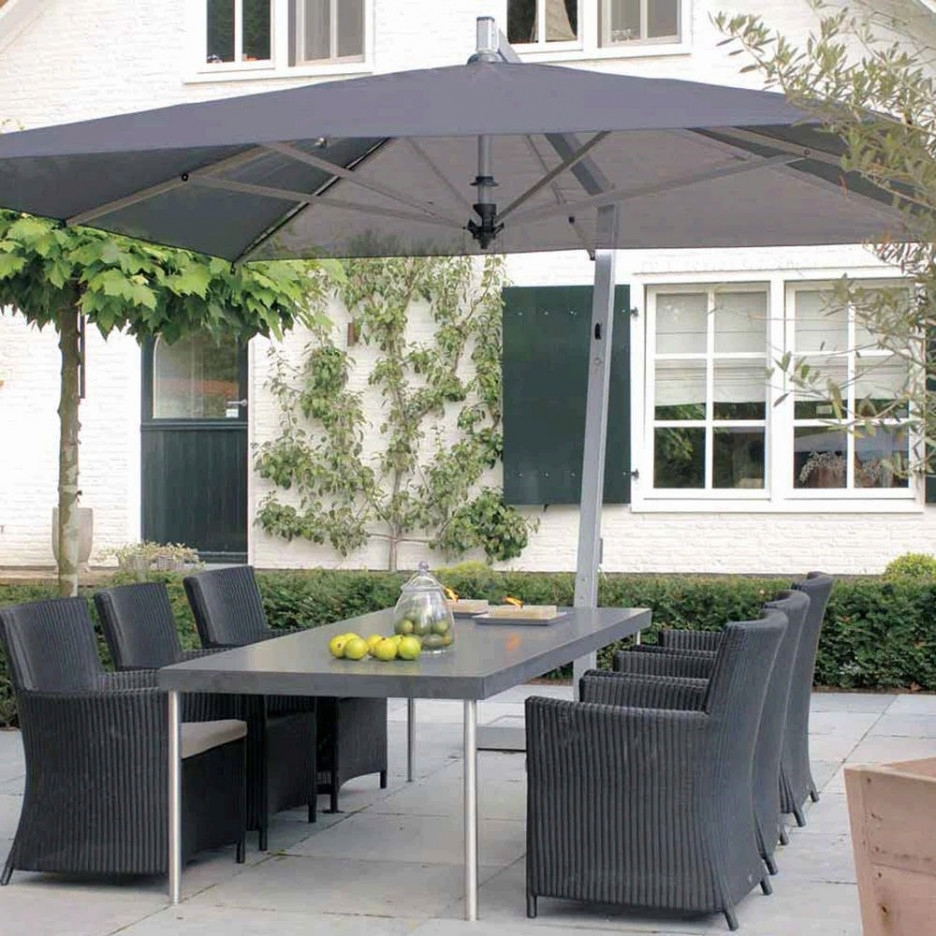 Recent Rectangle Patio Umbrellas Pertaining To The Most Amazing As Well As Gorgeous Remarkable Teak Patio Umbrella (View 13 of 20)
