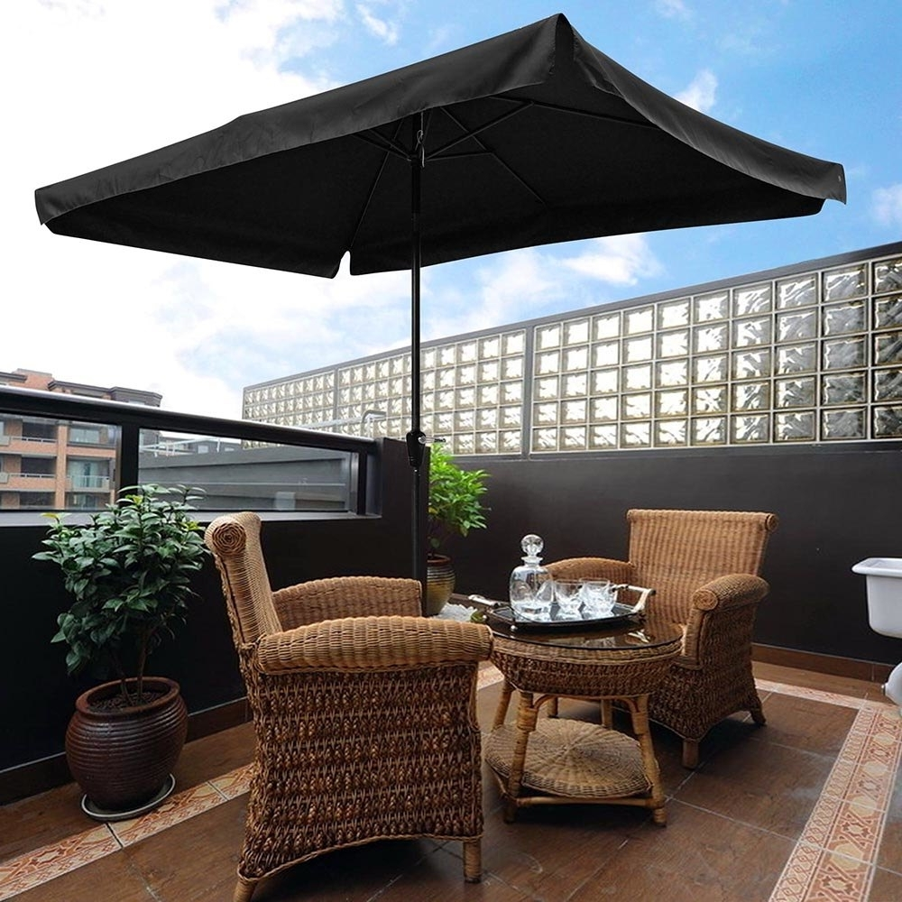 Rectangle Patio Umbrellas Regarding Fashionable Yescomusa: 10X (View 12 of 20)