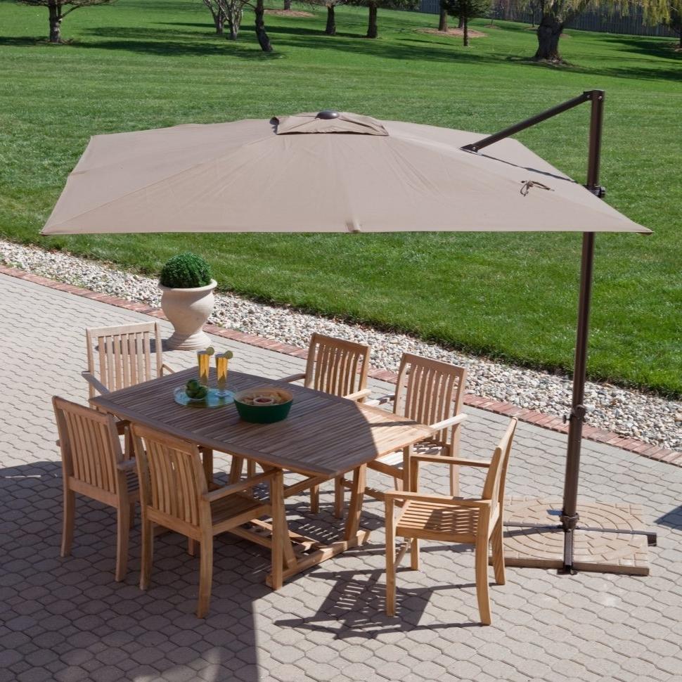 Rectangular Offset Patio Umbrellas Pertaining To Most Recent Patio Ideas Discount Umbrella Rectangular Umbrellas On Sale Foot (Gallery 15 of 20)