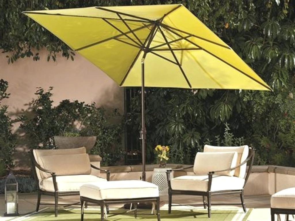 Rectangular Patio Umbrellas In Fashionable Rectangular Patio Umbrellas Rectangle Umbrella Uk Porch Garden Nice (View 15 of 20)