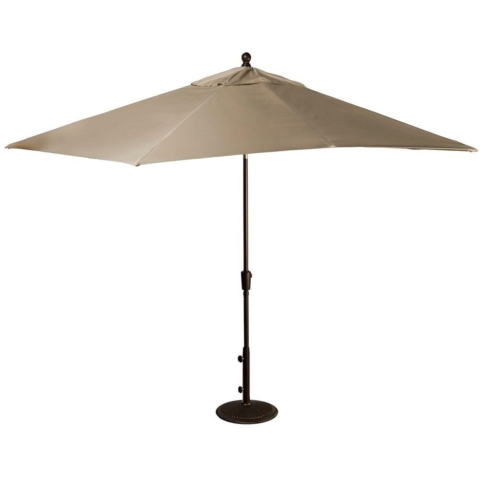 Rectangular Sunbrella Patio Umbrellas In Best And Newest Island Umbrella Caspian 8 Ft. X 10 Ft (View 10 of 20)