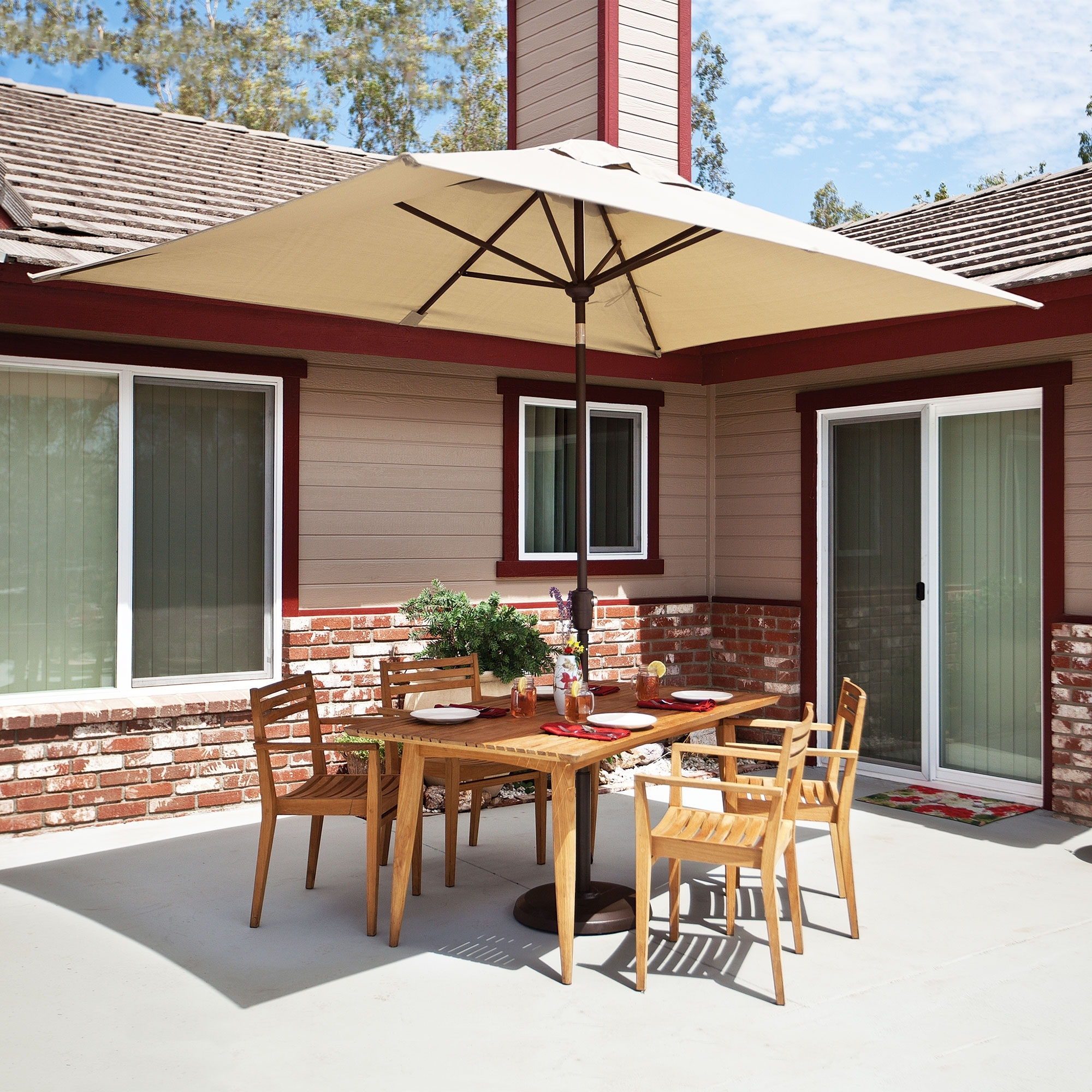 Rectangular Sunbrella Patio Umbrellas In Latest Simplyshade Catalina  (View 11 of 20)