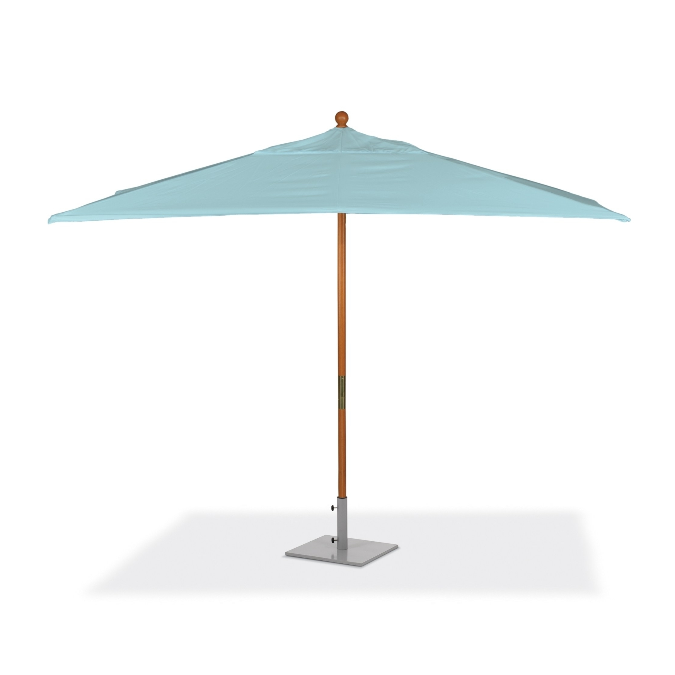 Rectangular Sunbrella Patio Umbrellas Throughout Well Known Shop Oxford Garden 10 Feet Rectangular Mineral Blue Sunbrella Fabric (View 12 of 20)