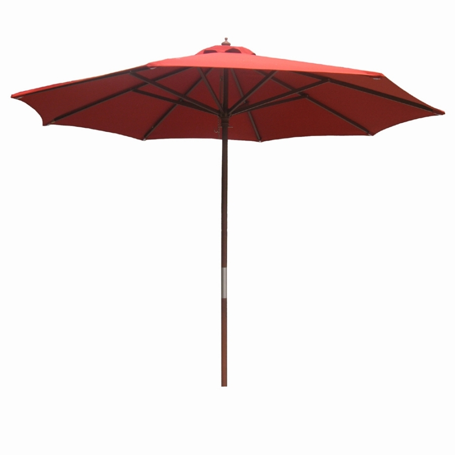 Red Patio Umbrellas Within Popular Shop Garden Treasures Red Patio Umbrella At Lowes (View 17 of 20)
