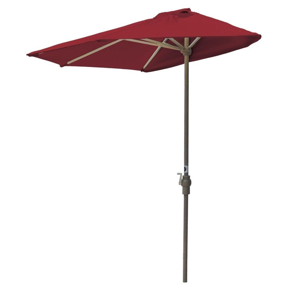 Red Sunbrella Patio Umbrellas For 2018 Blue Star Group Off The Wall Brella 7.5 Ft. Patio Half Umbrella In (Gallery 4 of 20)