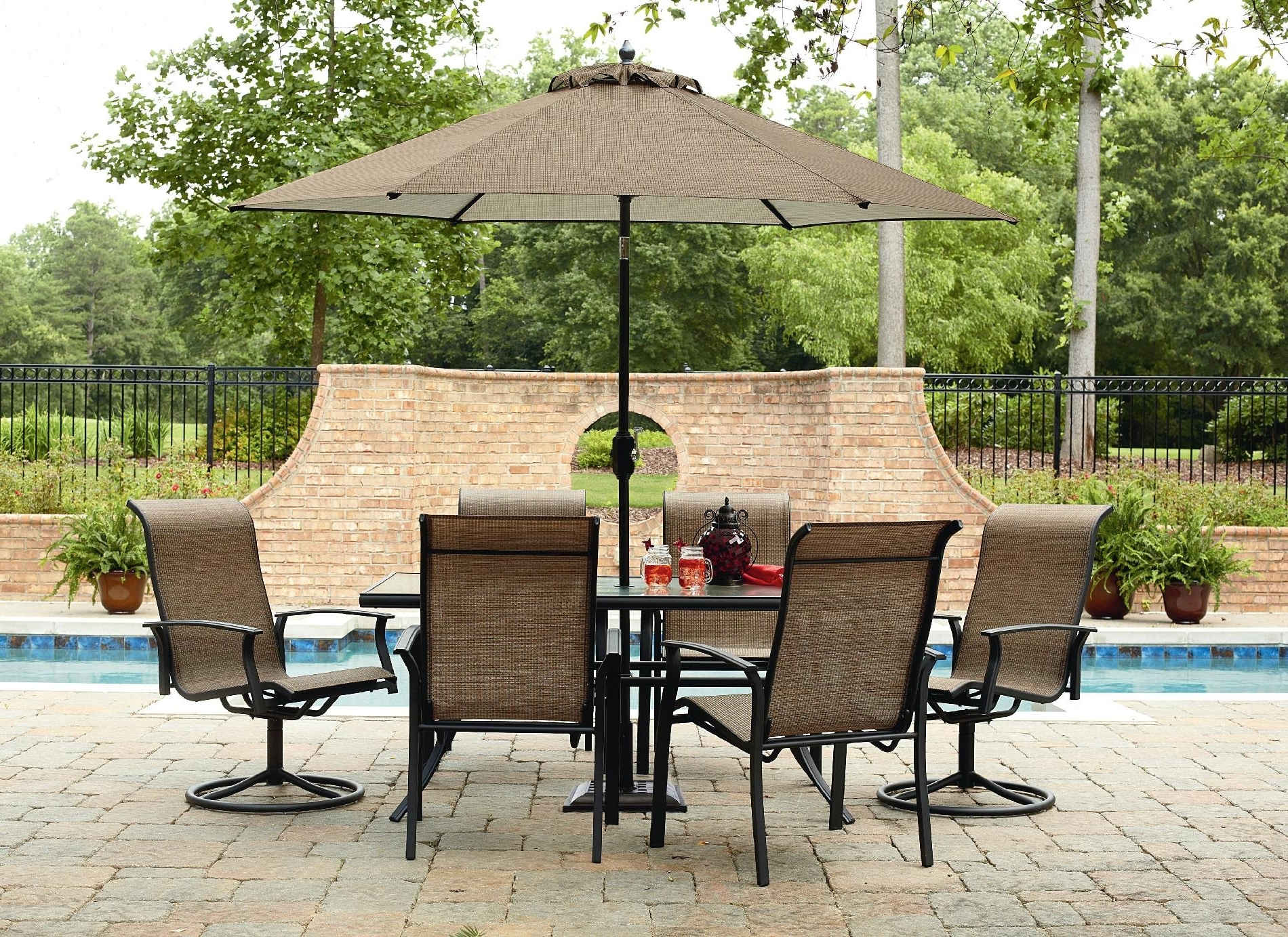 Sears Patio Umbrellas Intended For Favorite Furniture: Kmart Patio Umbrellas (View 17 of 20)