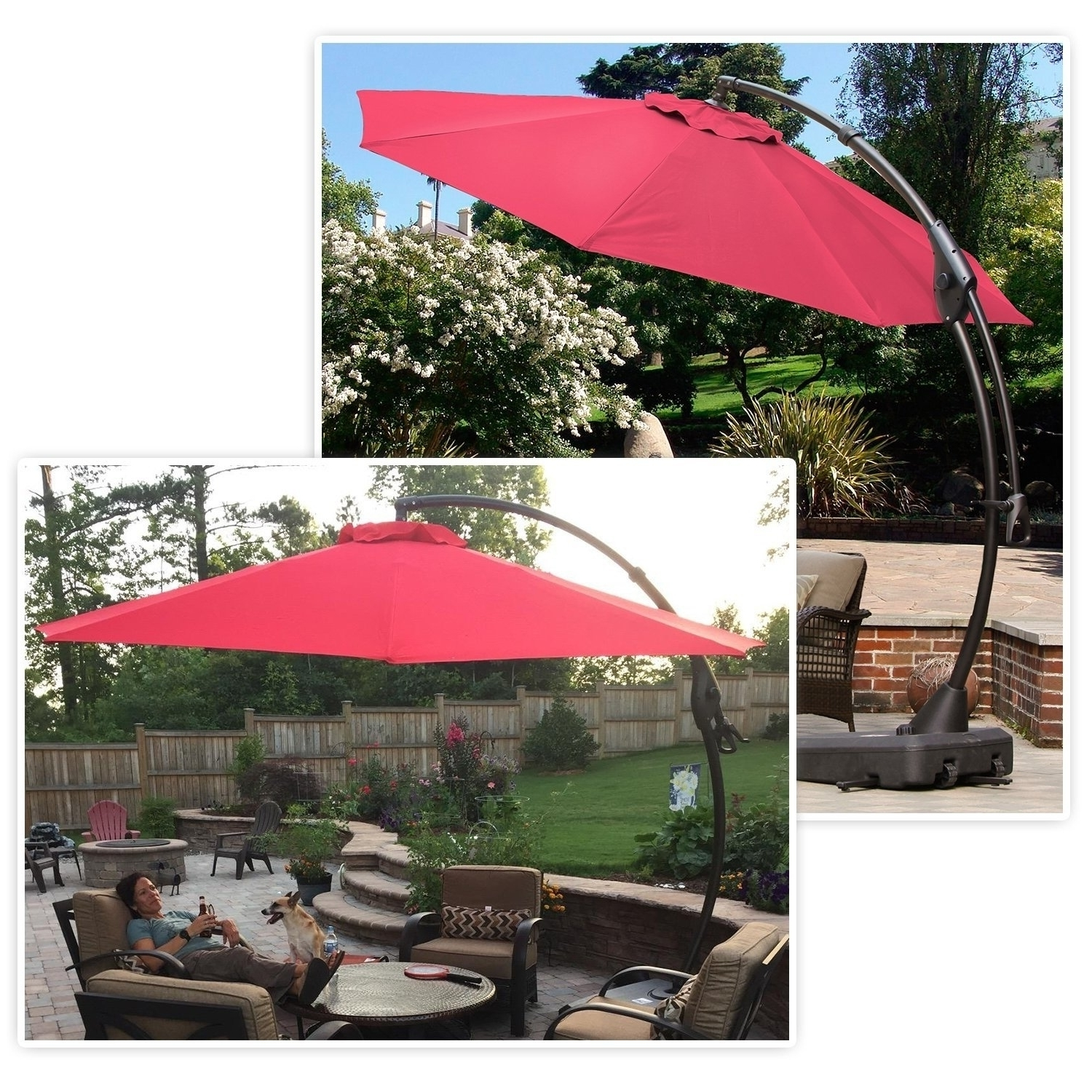 Shop Grand Patio Outdoor 10 Ft Patio Umbrella With Crank Handle And Inside Favorite 10 Ft Patio Umbrellas (View 15 of 20)