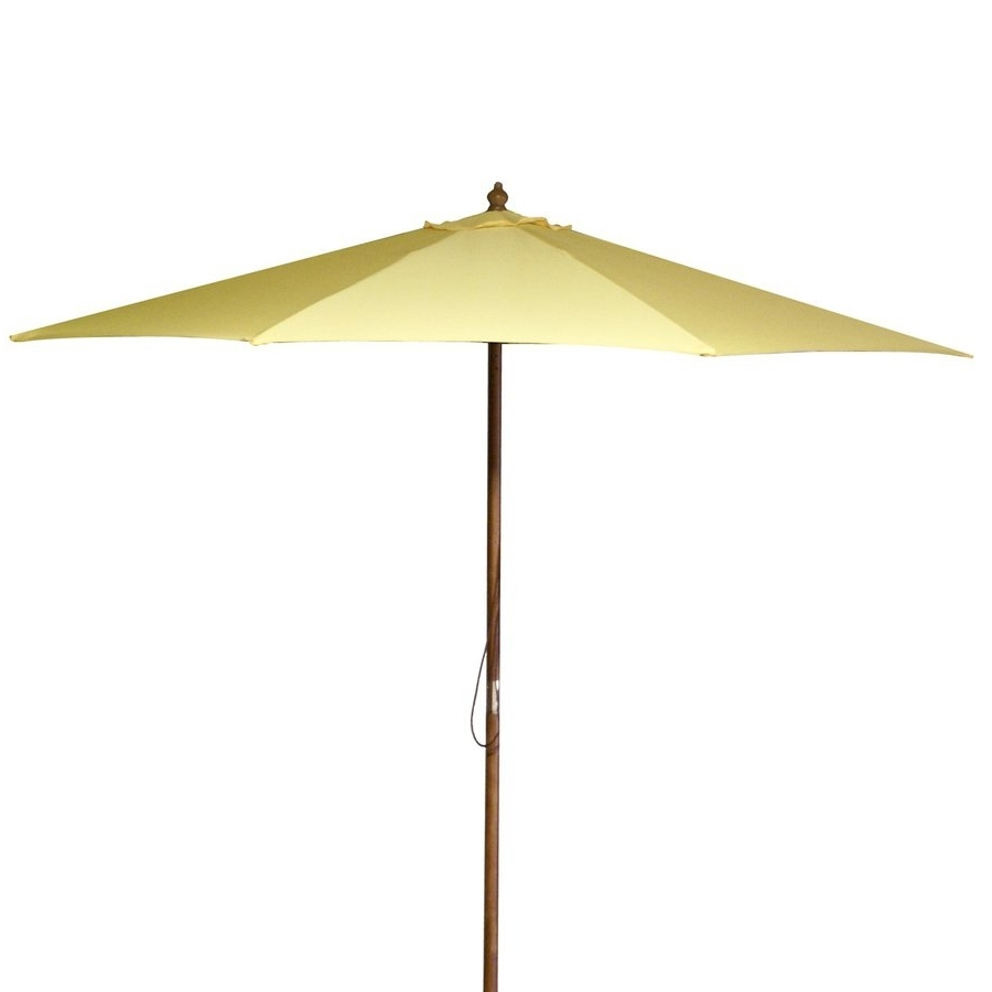 Shop Jordan Manufacturing Canary Yellow Market 9 Ft Patio Umbrella Pertaining To Widely Used Yellow Patio Umbrellas (View 11 of 20)
