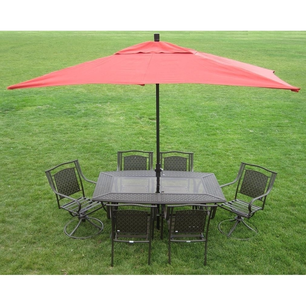 Shop Premium 10 Foot Rectangular Patio Umbrella With Stand – Free Intended For Well Liked Rectangular Patio Umbrellas (View 15 of 20)