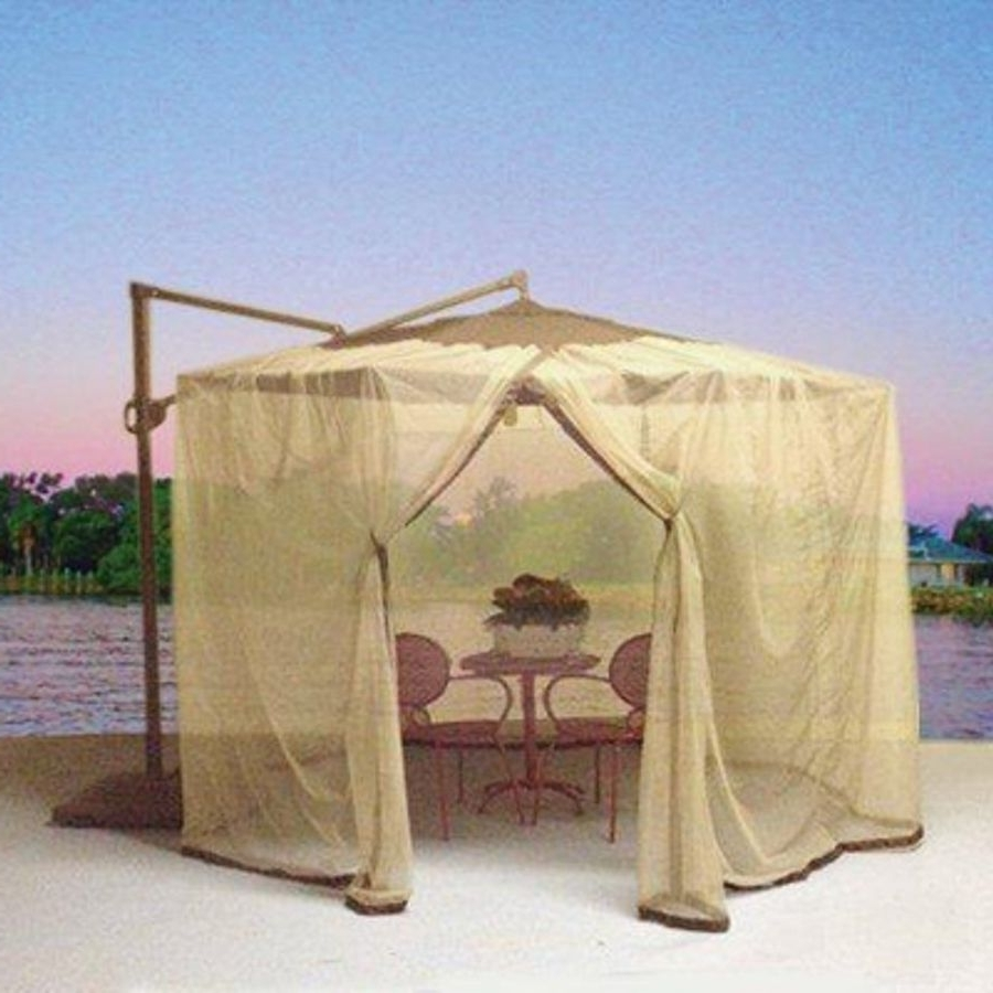 Shop Shade Trends Mosquito Net For Patio Cantilever Umbrella At Throughout Trendy Patio Umbrellas With Netting (View 5 of 20)