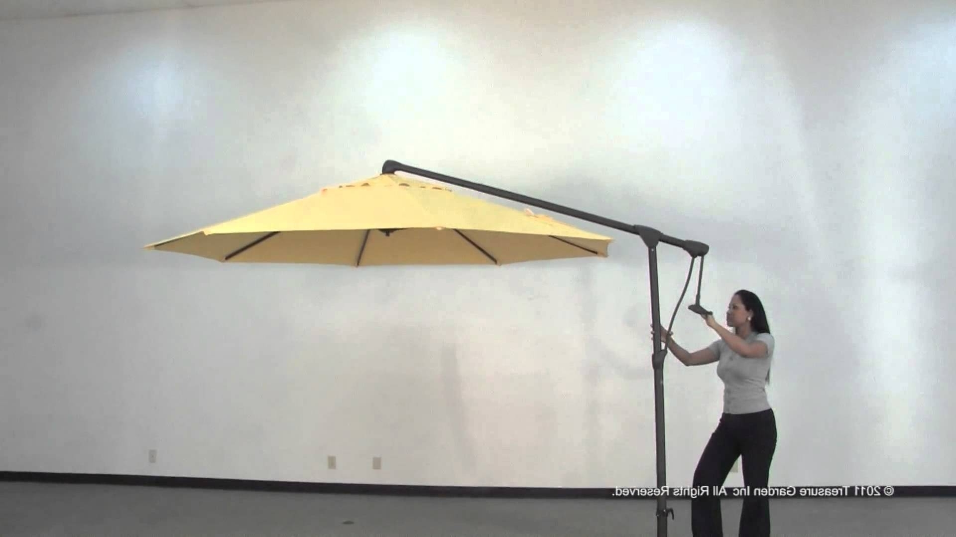 Side Mount Cantilever Outdoor Umbrella – Youtube For Most Current Ikea Patio Umbrellas (View 18 of 20)