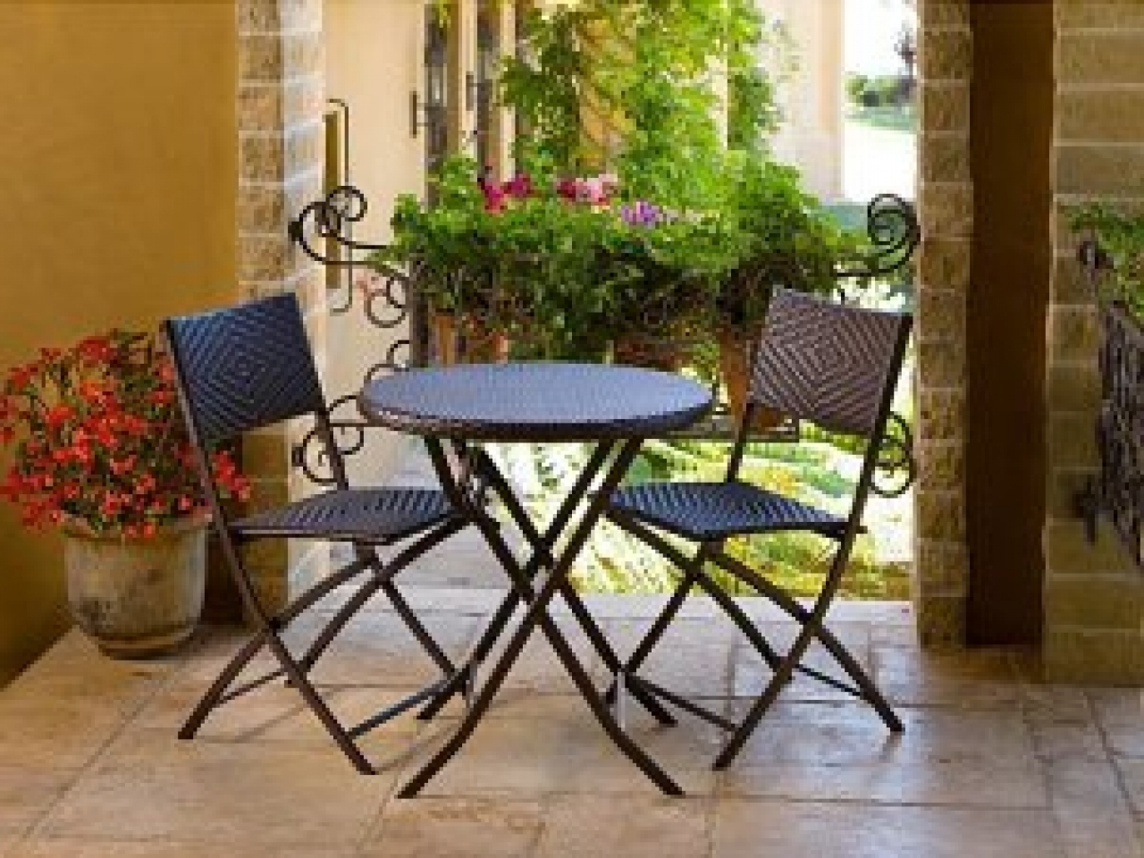 Small Patio Umbrellas Within Most Current Stylish Small Patio Tables Small Patio Furniture Enter Home Patio (View 17 of 20)