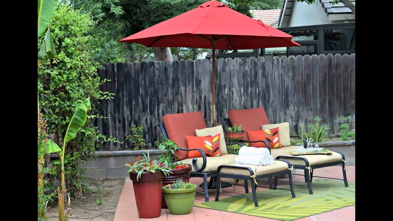 Small Patio Umbrellas Within Newest Small Patio Umbrella Design Ideas – Youtube (View 19 of 20)