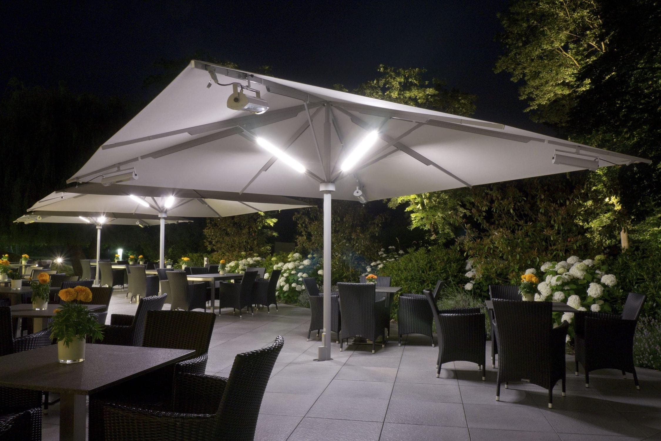 Solar Powered Lights For Patio Umbrellas • Patio Ideas Inside Famous European Patio Umbrellas (View 17 of 20)
