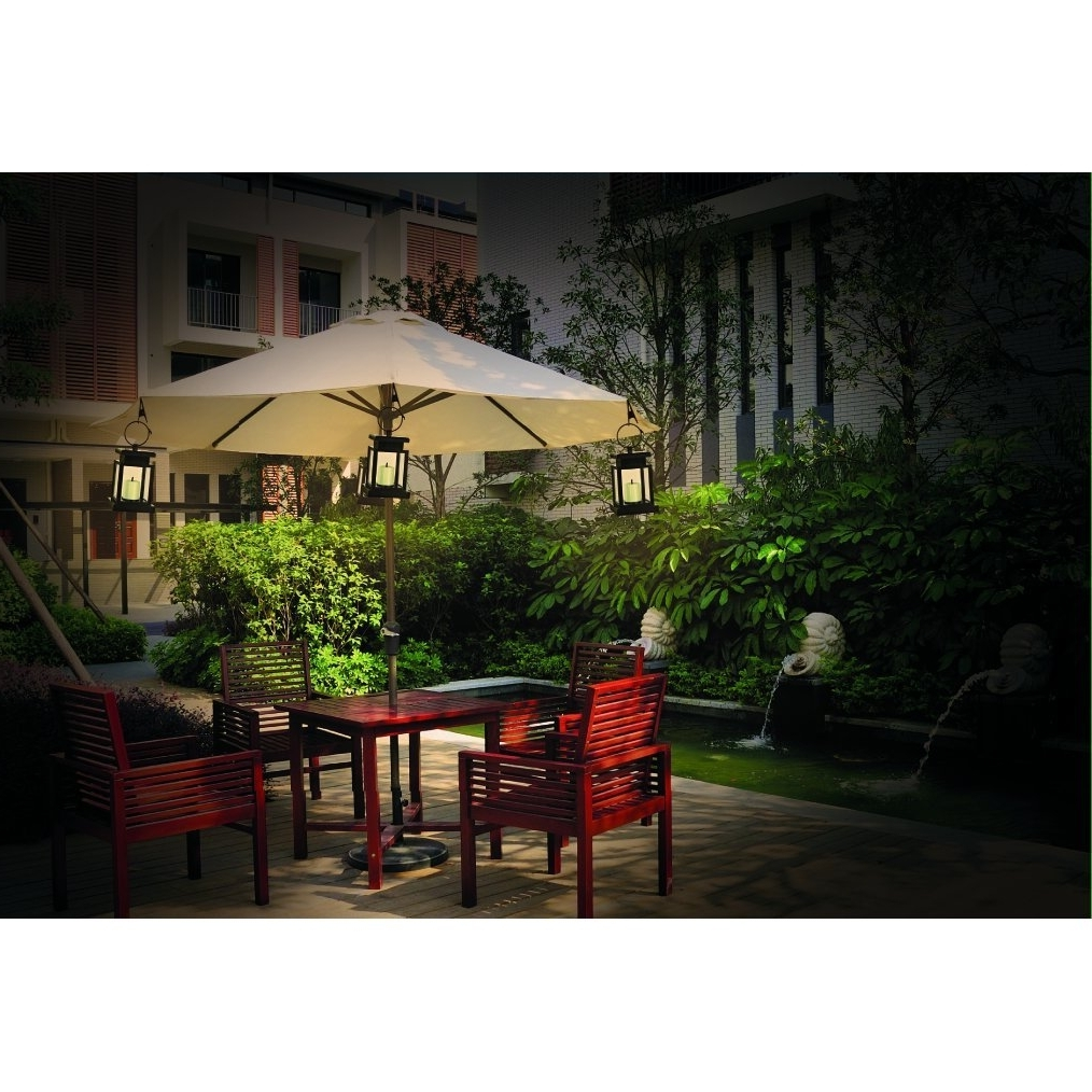 Solar Powered Patio Umbrella Lights Cement Different – Arelisapril Throughout Trendy Solar Powered Patio Umbrellas (View 17 of 20)