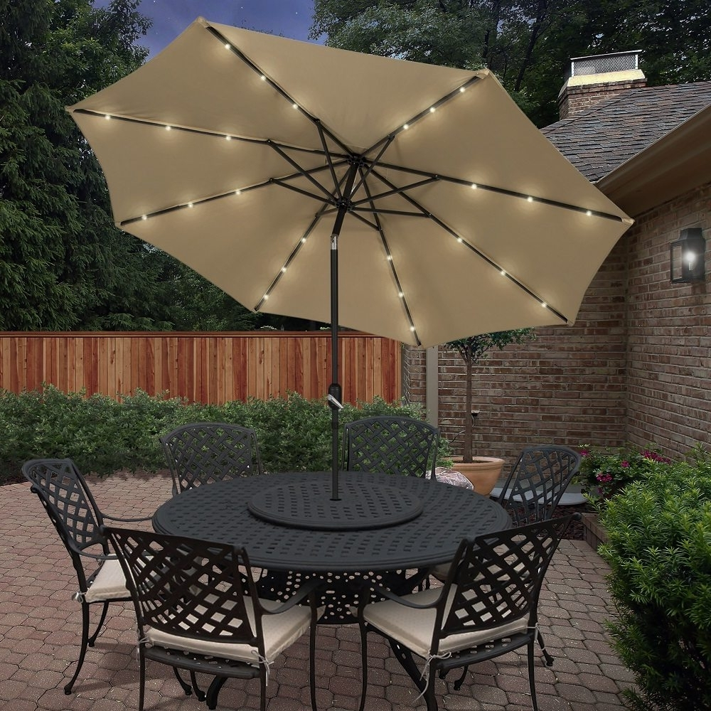 Solar Powered Patio Umbrellas For Fashionable Solar Powered Patio Umbrella » Gadget Flow (View 12 of 20)