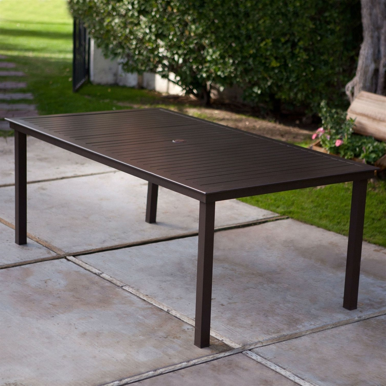 Spectacular Patio Table With Umbrella Hole F39X In Rustic Interior With Widely Used Patio Tables With Umbrella Hole (View 15 of 20)