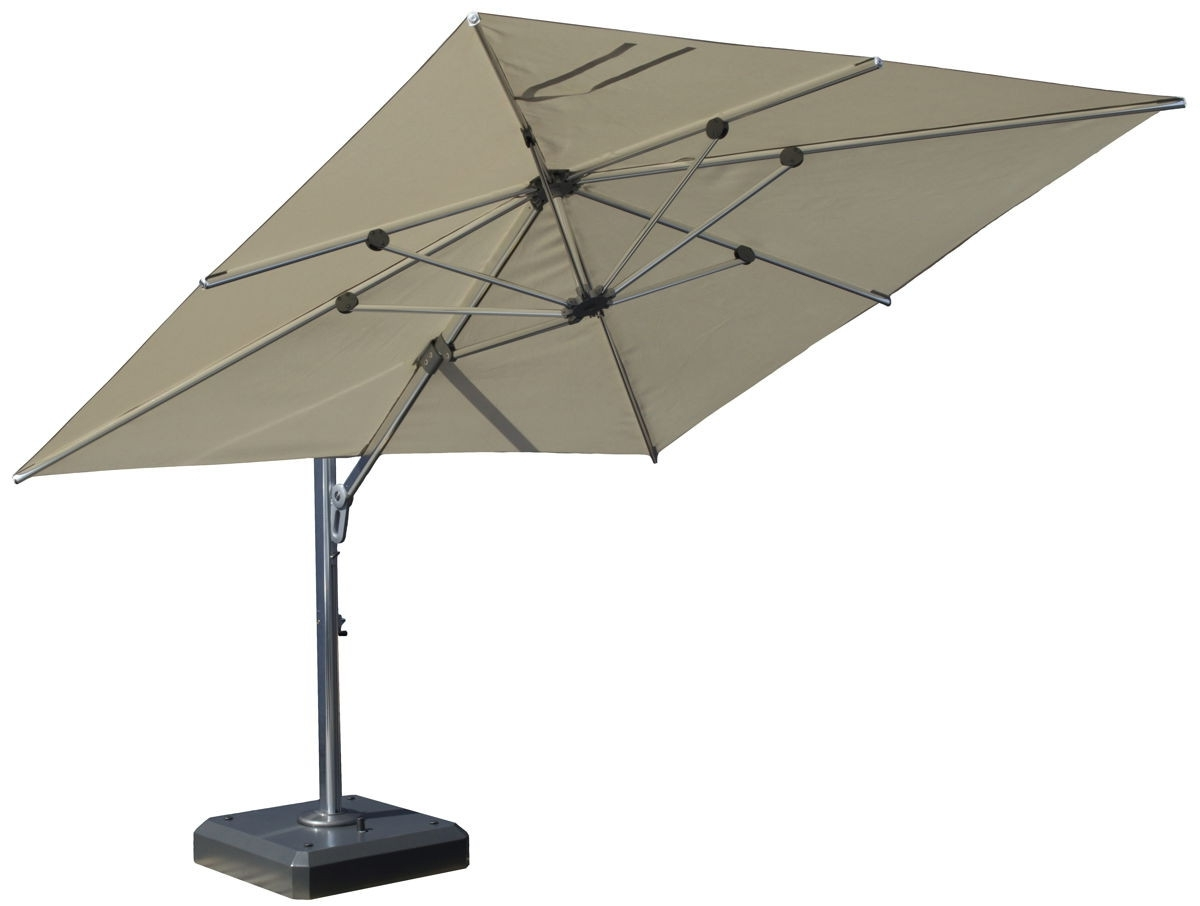 Square Cantilever Patio Umbrellas In Famous Square Cantilever Patio Umbrella – Arelisapril (View 12 of 20)