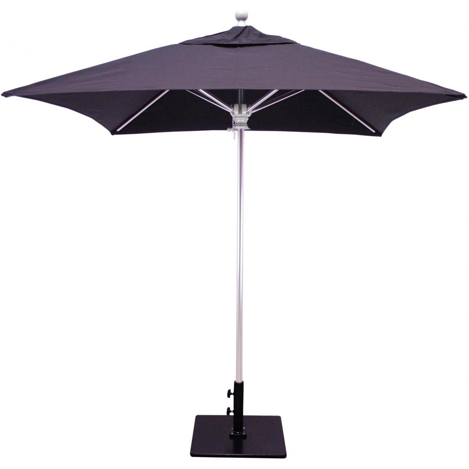 Square Patio Umbrellas Intended For Popular Galtech Sr Series 6 Ft Aluminum Square Commercial Patio Umbrella (View 16 of 20)