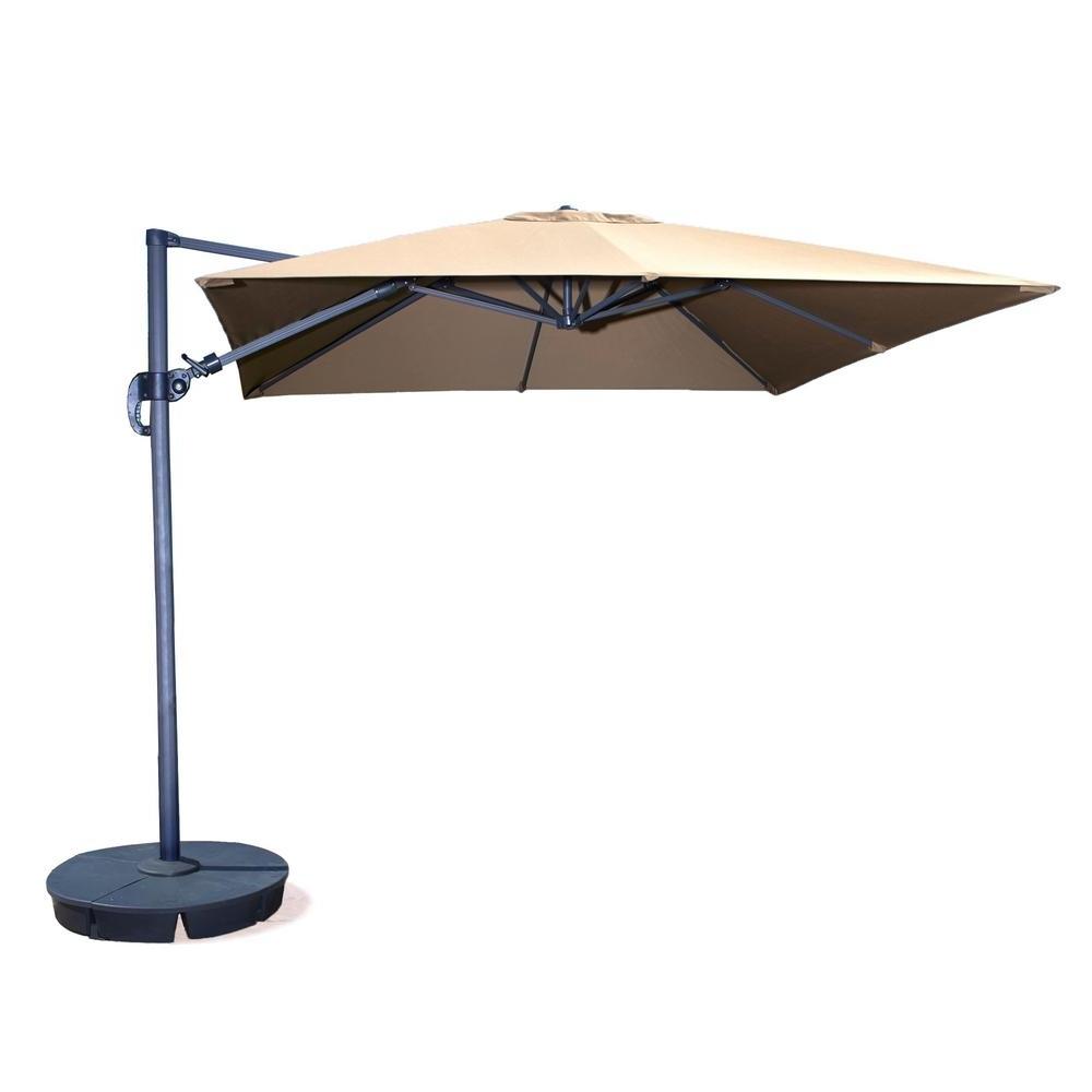 Square Patio Umbrellas Regarding Most Current Island Umbrella Santorini Ii 10 Ft (View 15 of 20)