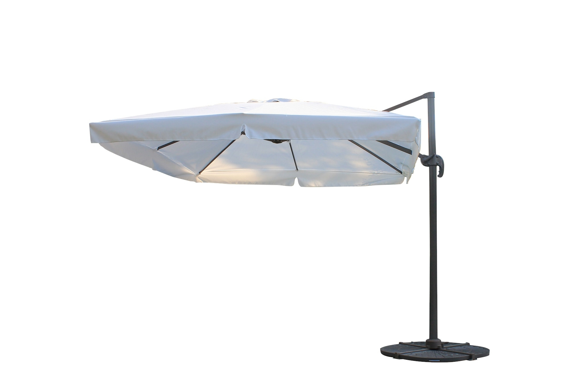 Square Patio Umbrellas Within Best And Newest Kontiki Shade & Cooling Offset Patio Umbrellas 10 Ft Square Offset (View 18 of 20)