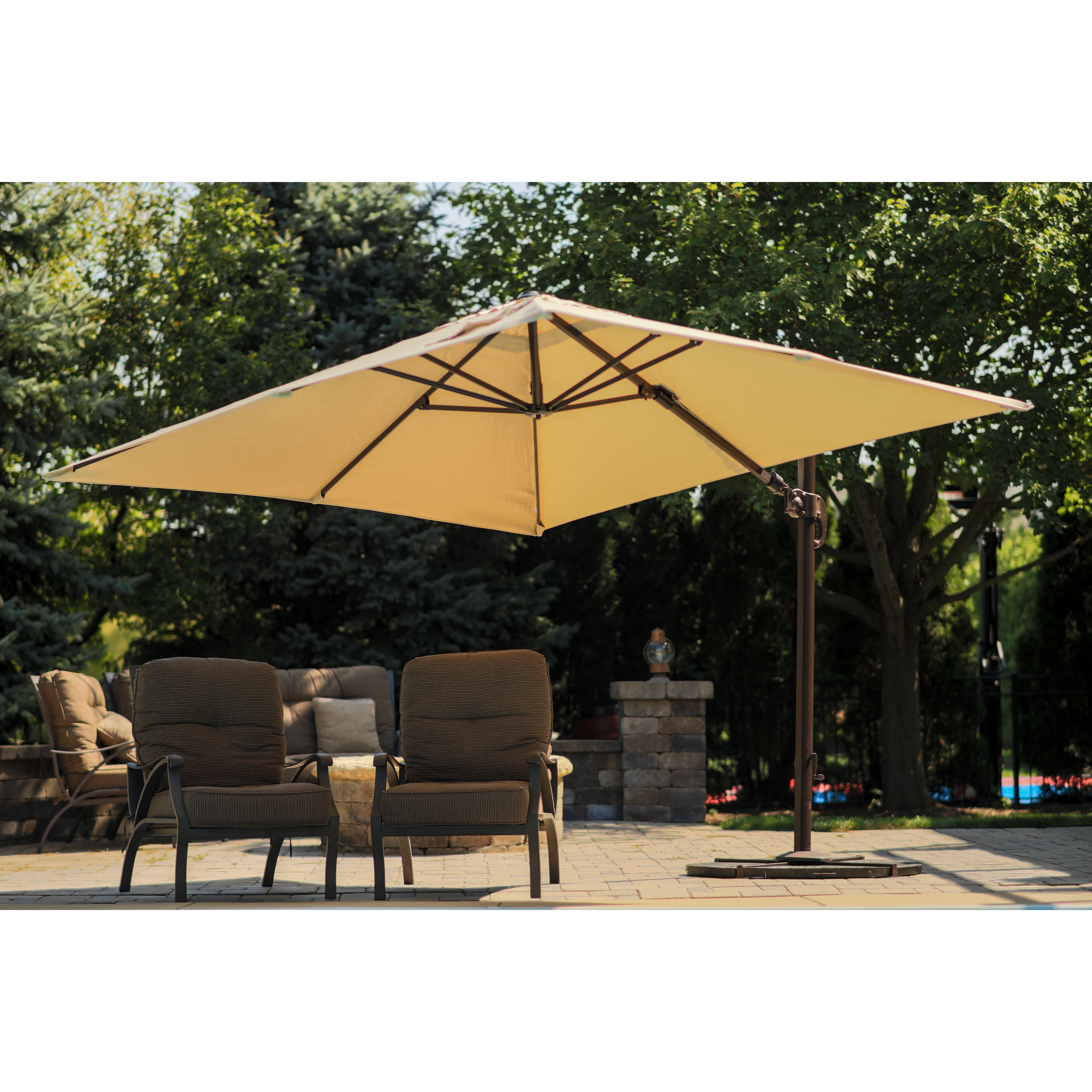 Square Sunbrella Patio Umbrellas With Regard To Most Current Blue Wave Santorini Ll  (View 16 of 20)