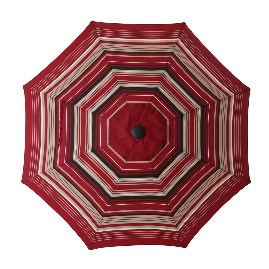 Striped Patio Umbrellas In Preferred Shop Garden Treasures Patio Umbrella At Lowes (View 16 of 20)