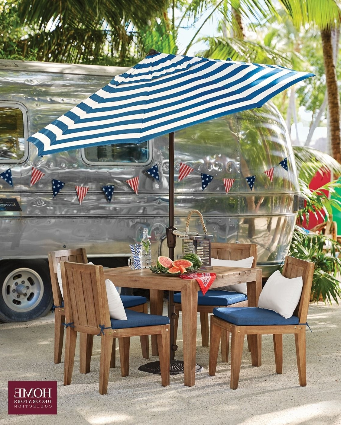 Striped Patio Umbrellas Intended For Trendy Striped Patio Umbrella – Fabulous Coral Coast 11 Ft Crank And Tilt (View 17 of 20)