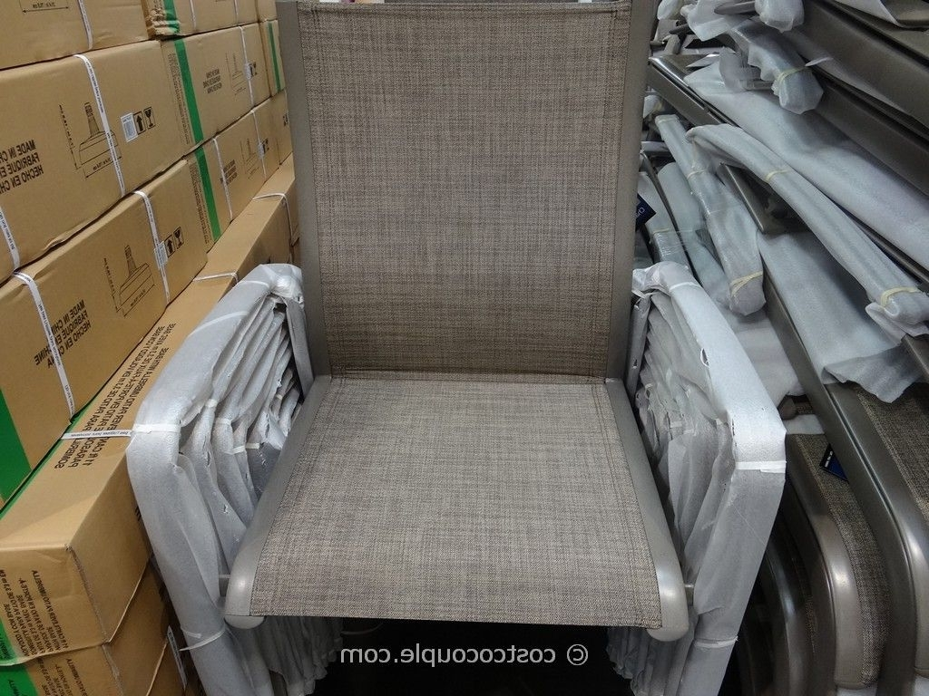 Stylish Patio Chairs Costco Kirkland Signature Commercial Sling Intended For Well Known Kirkland Patio Umbrellas (View 16 of 20)