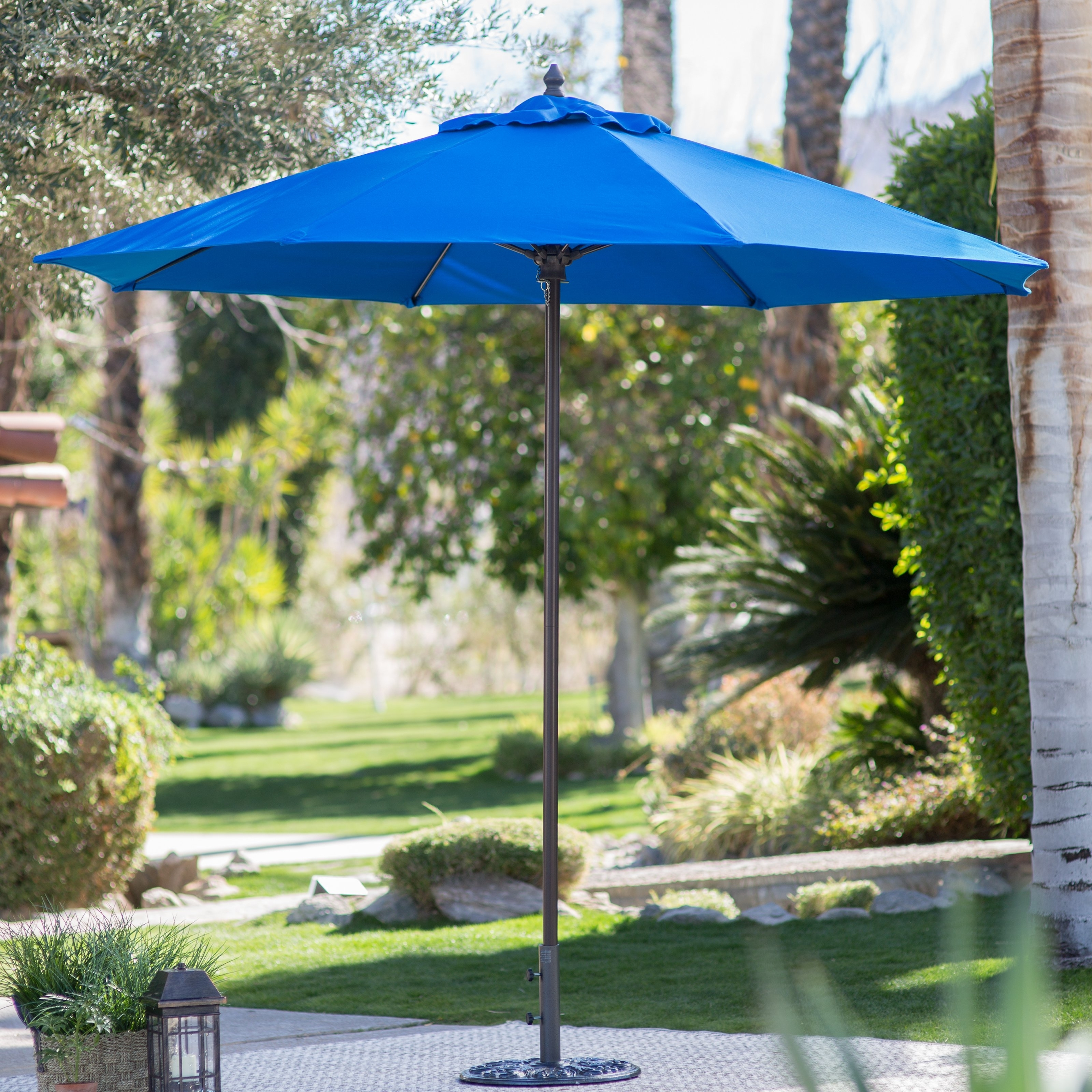 Sunbrella Black Patio Umbrellas Within 2019 Coral Coast 9 Ft (View 17 of 20)