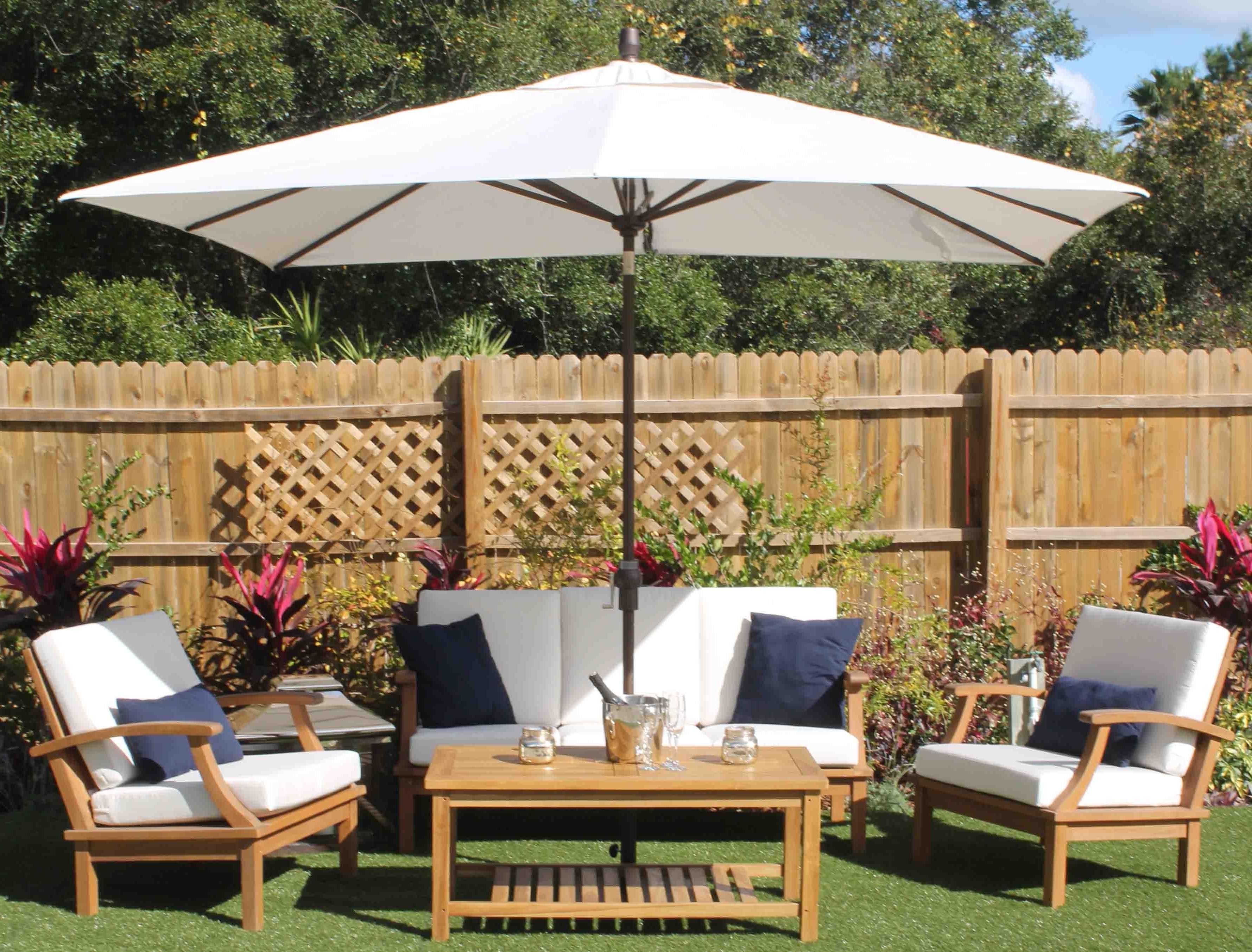Sunbrella Outdoor Patio Umbrellas For Best And Newest 48 Rectangular Sunbrella Patio Umbrellas, 6#039; X 10#039; Sunbrella (View 13 of 20)