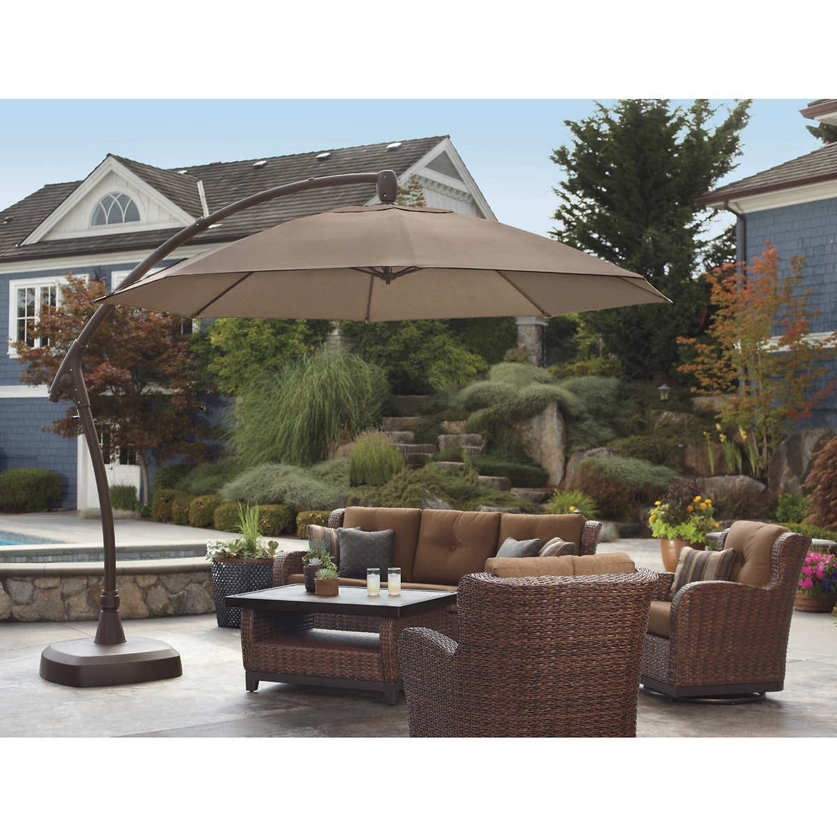 Sunbrella Patio Umbrellas At Costco For Most Recent Patio Umbrellas At Costco Canada – Patio Ideas (View 4 of 20)