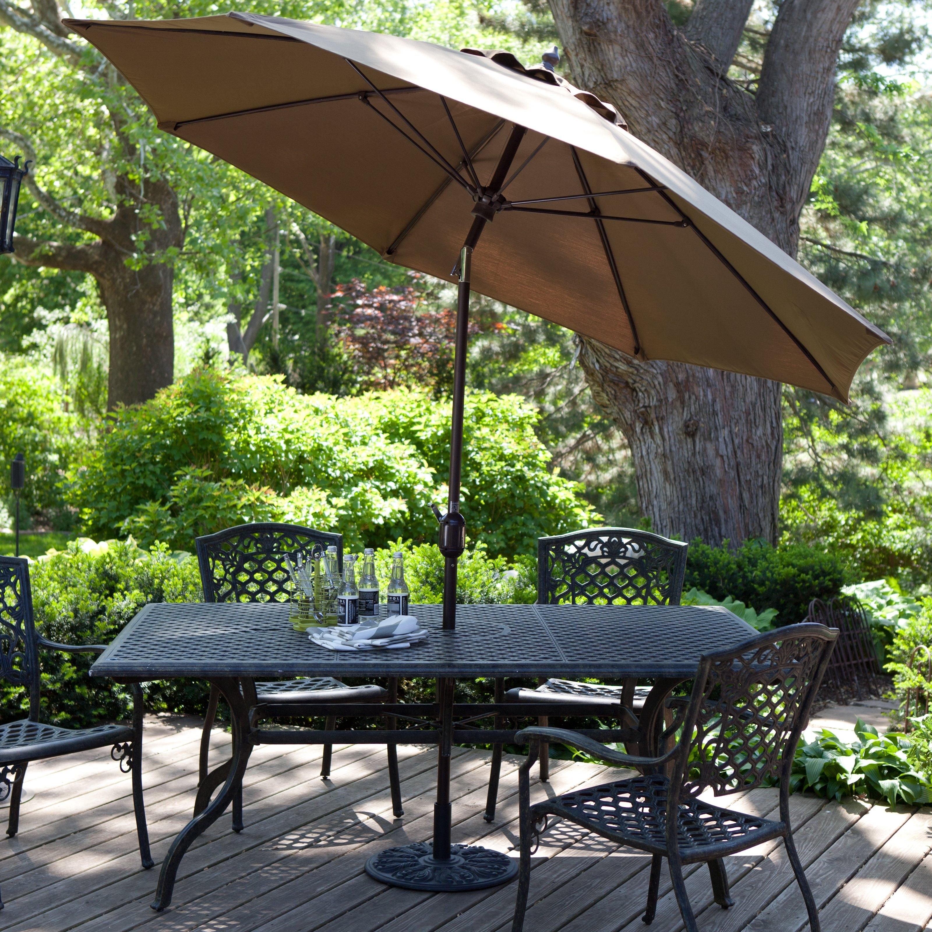 Sunbrella Patio Umbrellas Intended For Widely Used Patio Umbrellas Com Luxury Treasure Garden 11 Ft Sunbrella Aluminium (View 15 of 20)