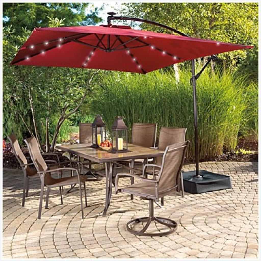 Sunbrella Patio Umbrellas With Solar Lights Pertaining To Most Current Patio Umbrellas Ej Tropical Outlet Inc Sunbrella Custom Ideas (View 12 of 20)