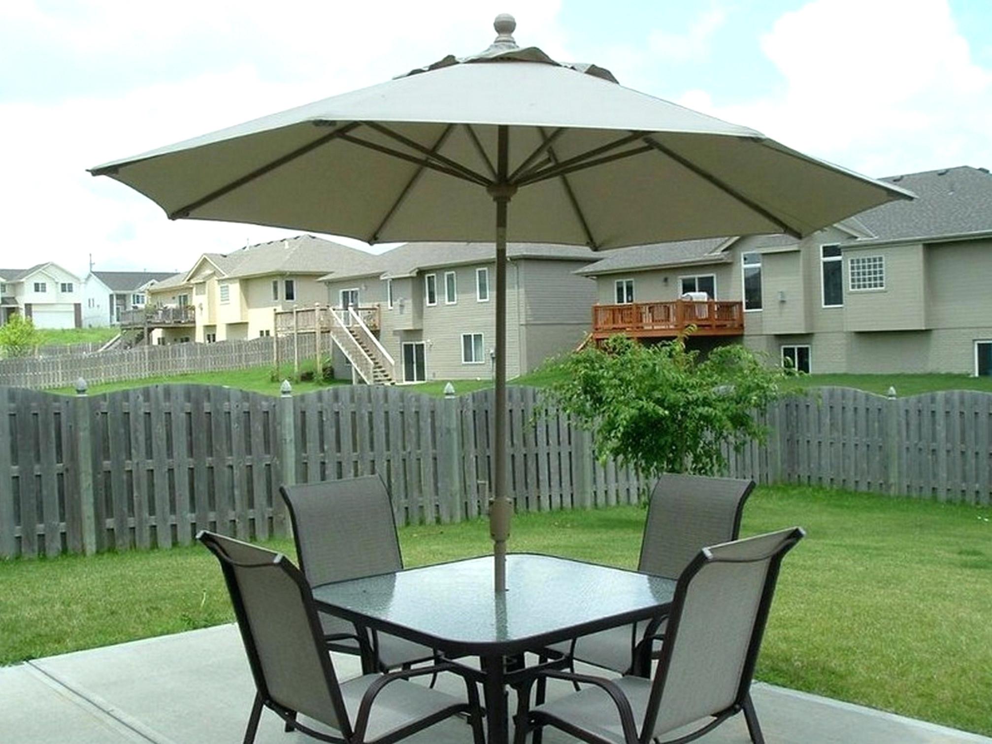 Sunbrella Teak Umbrellas With Fashionable Tips: Best Frontgate Umbrellas With Sunbrella Striped Patio Umbrella (View 16 of 20)