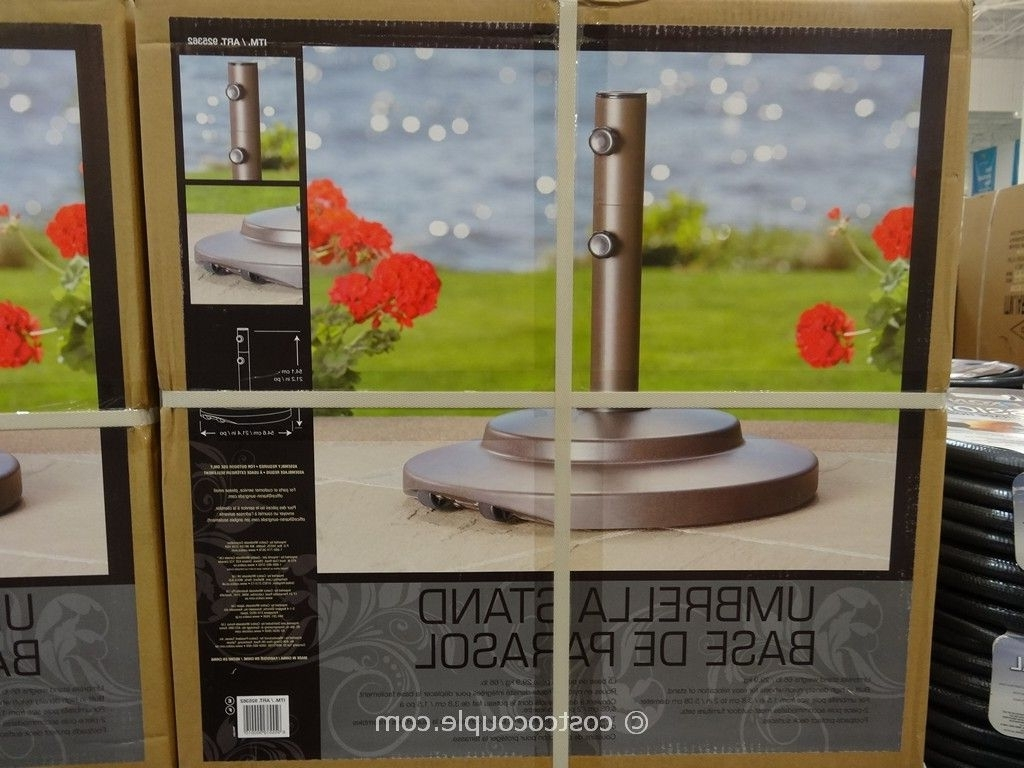 Sungrade Umbrella Stand Regarding Preferred Patio Umbrellas From Costco (View 18 of 20)