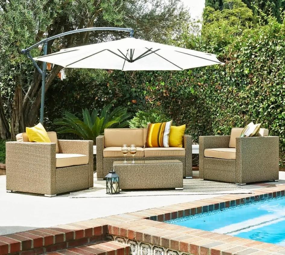 Supple Macys Outdoor Furniture Large Brown Patio Umbrella Metal With Regard To Famous Heavy Duty Patio Umbrellas (View 15 of 20)