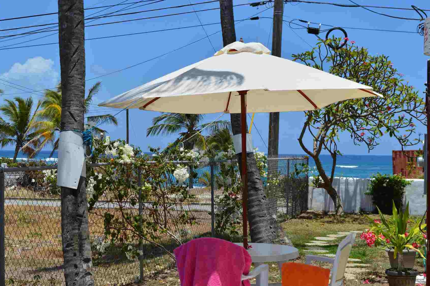 Sweet Jewel – Two Palms Apartment In Barbados With Recent Jewel Patio Umbrellas (View 17 of 20)