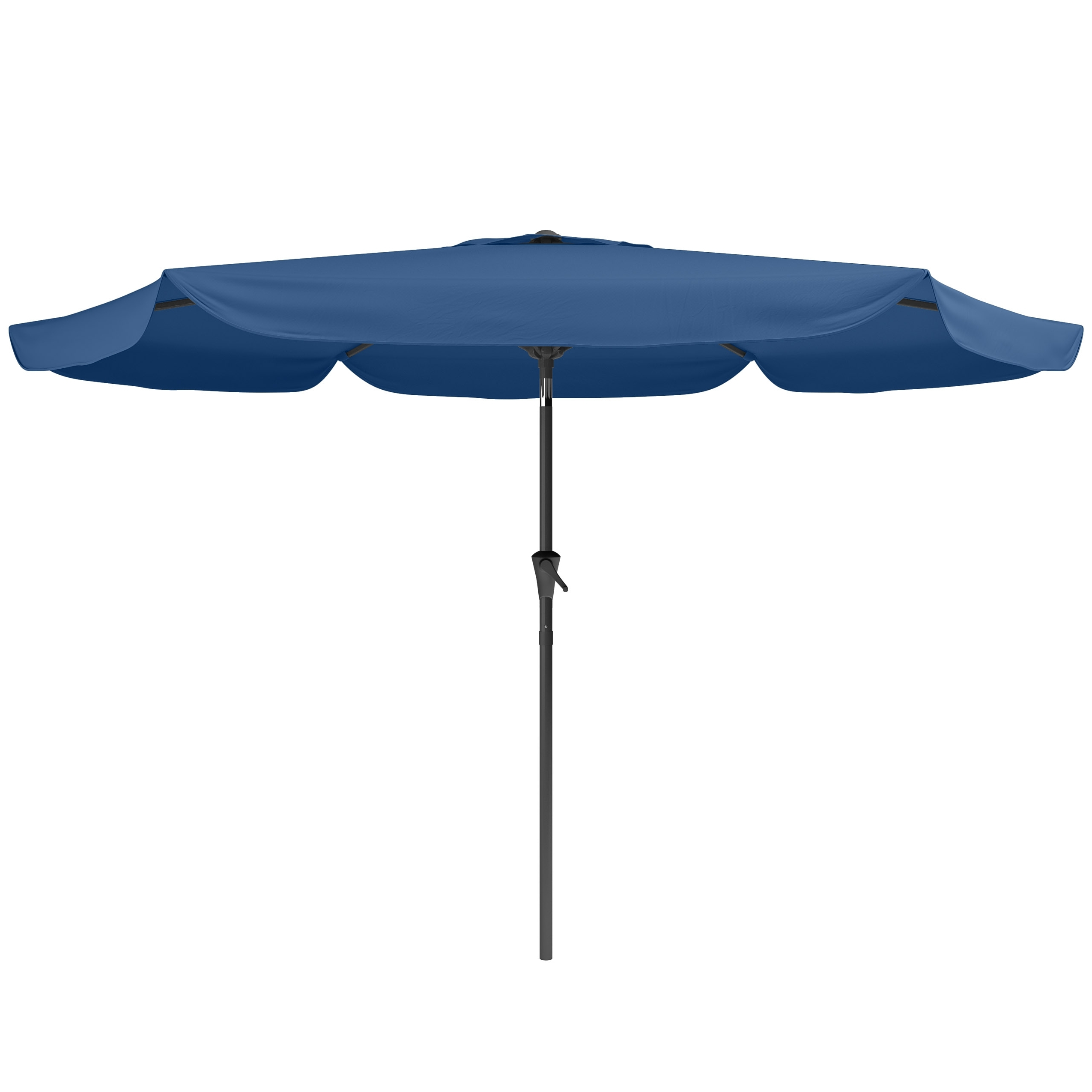 Tilting Patio Umbrellas Intended For Well Liked Tilting Patio Umbrella In Cobalt Blue (View 8 of 20)