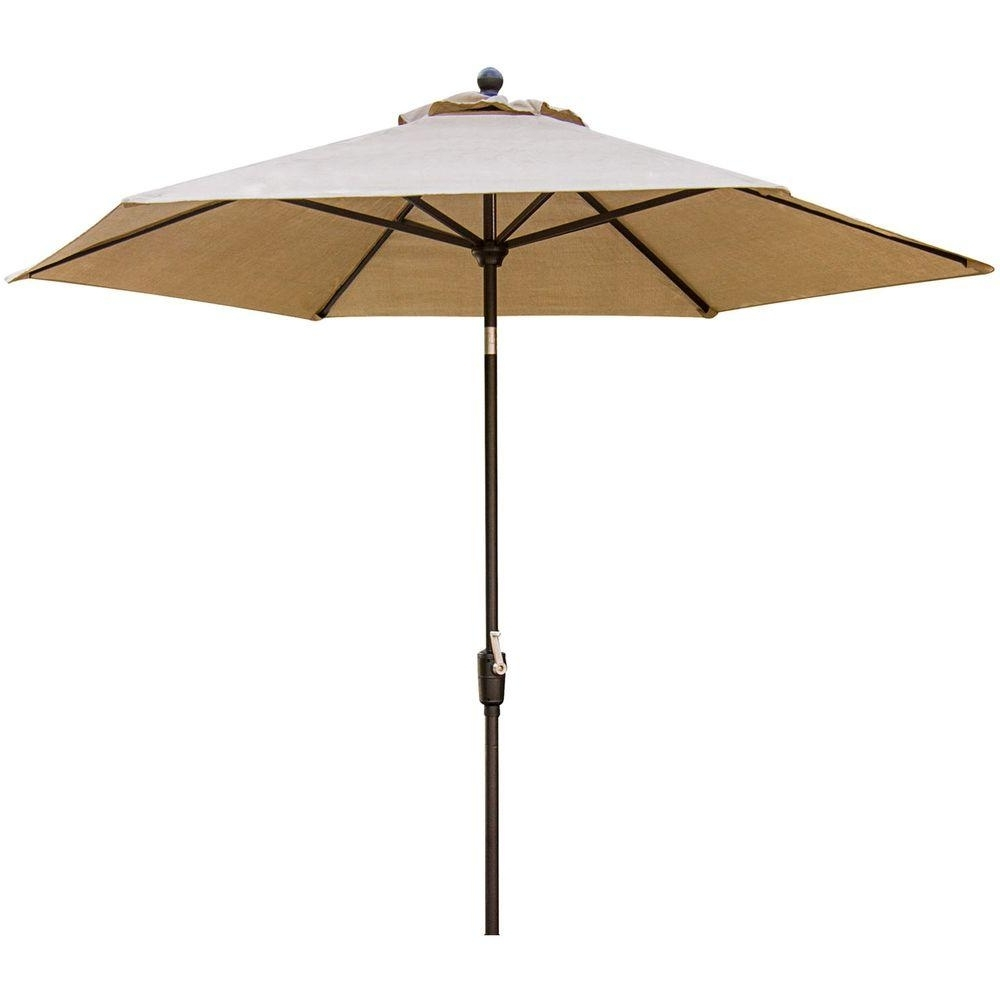 Tilting Patio Umbrellas Pertaining To Favorite Hanover Traditions 9 Ft (View 17 of 20)