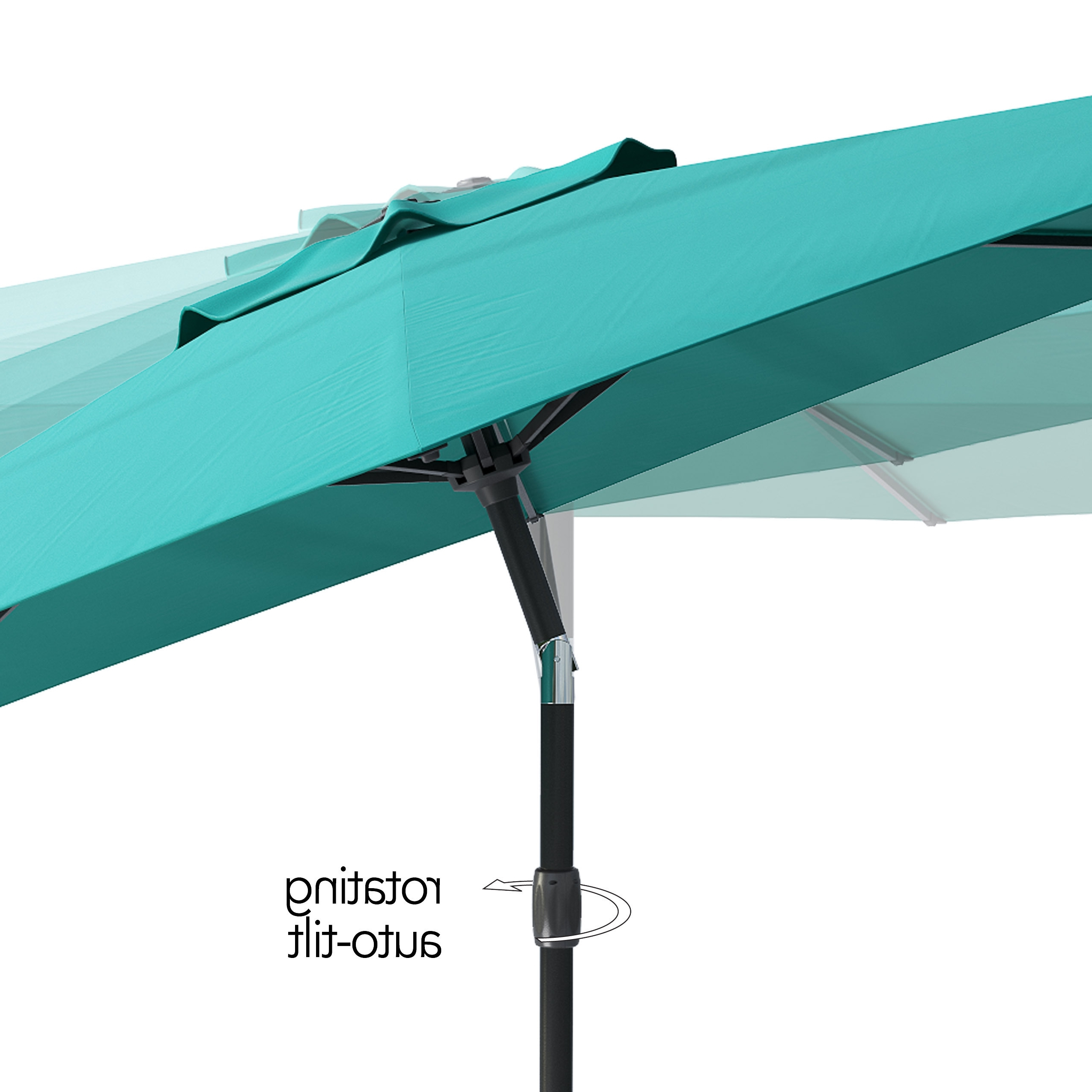 Tilting Patio Umbrellas Throughout Most Popular Shop Corliving Uv And Wind Resistant Tilting Patio Umbrella – Free (View 4 of 20)