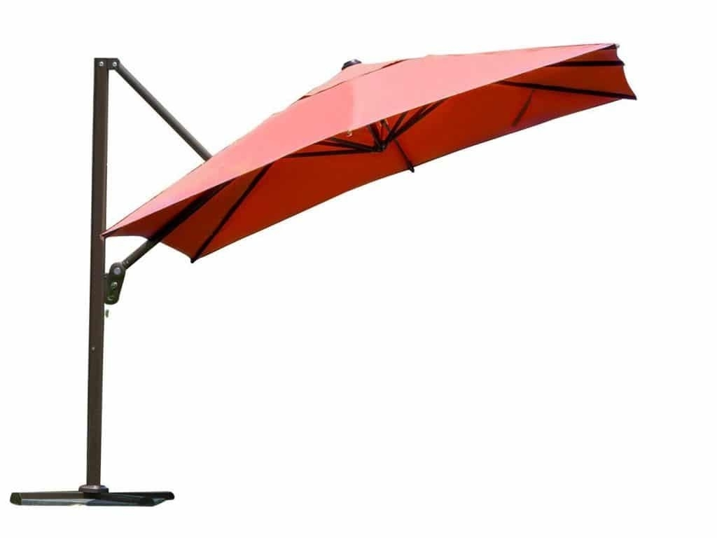 Top 15 Best Offset Patio Umbrellas 2018 – Buyer's Guide (September Within 2018 Offset Cantilever Patio Umbrellas (View 17 of 20)