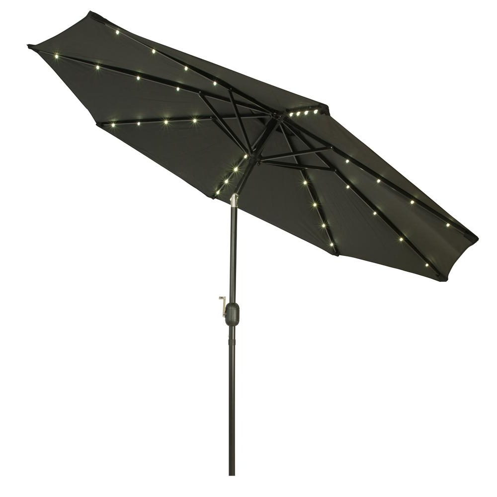 Trademark Innovations 9 Ft. Deluxe Solar Powered Led Lighted Patio In Widely Used Led Patio Umbrellas (Gallery 20 of 20)