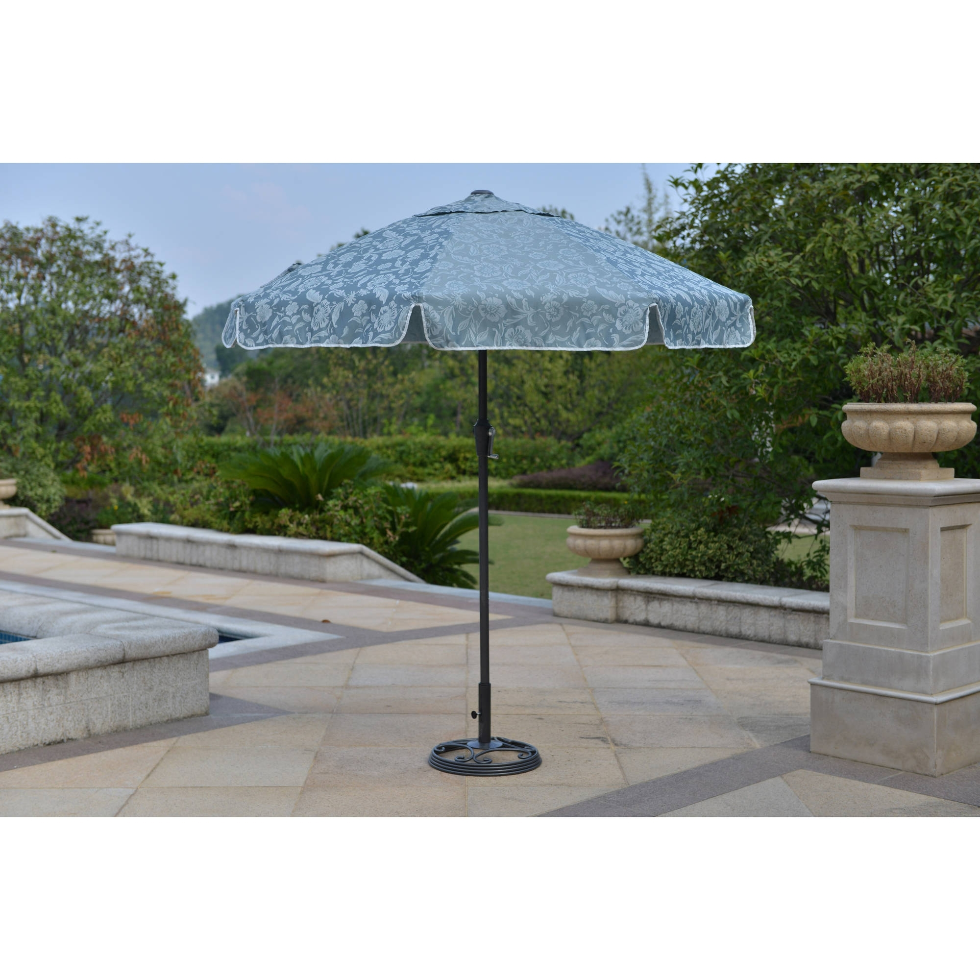 Trendy Blue Patio Umbrellas Regarding New Willow Springs 7 Feet Garden Umbrella, Blue Patio Umbrellas (View 18 of 20)