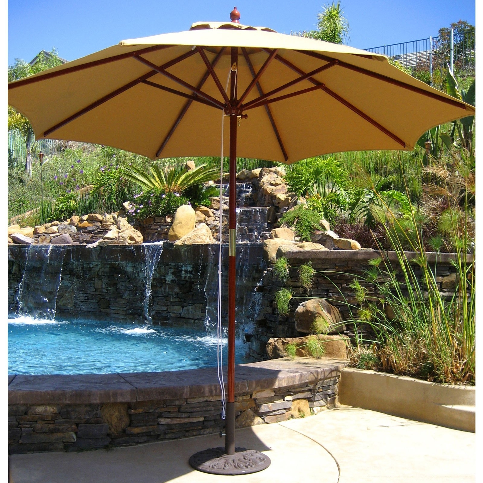 Trendy Costco Cantilever Patio Umbrellas For Startling Tweet Living Accents Round F Offset Umbrella At Ace (View 18 of 20)