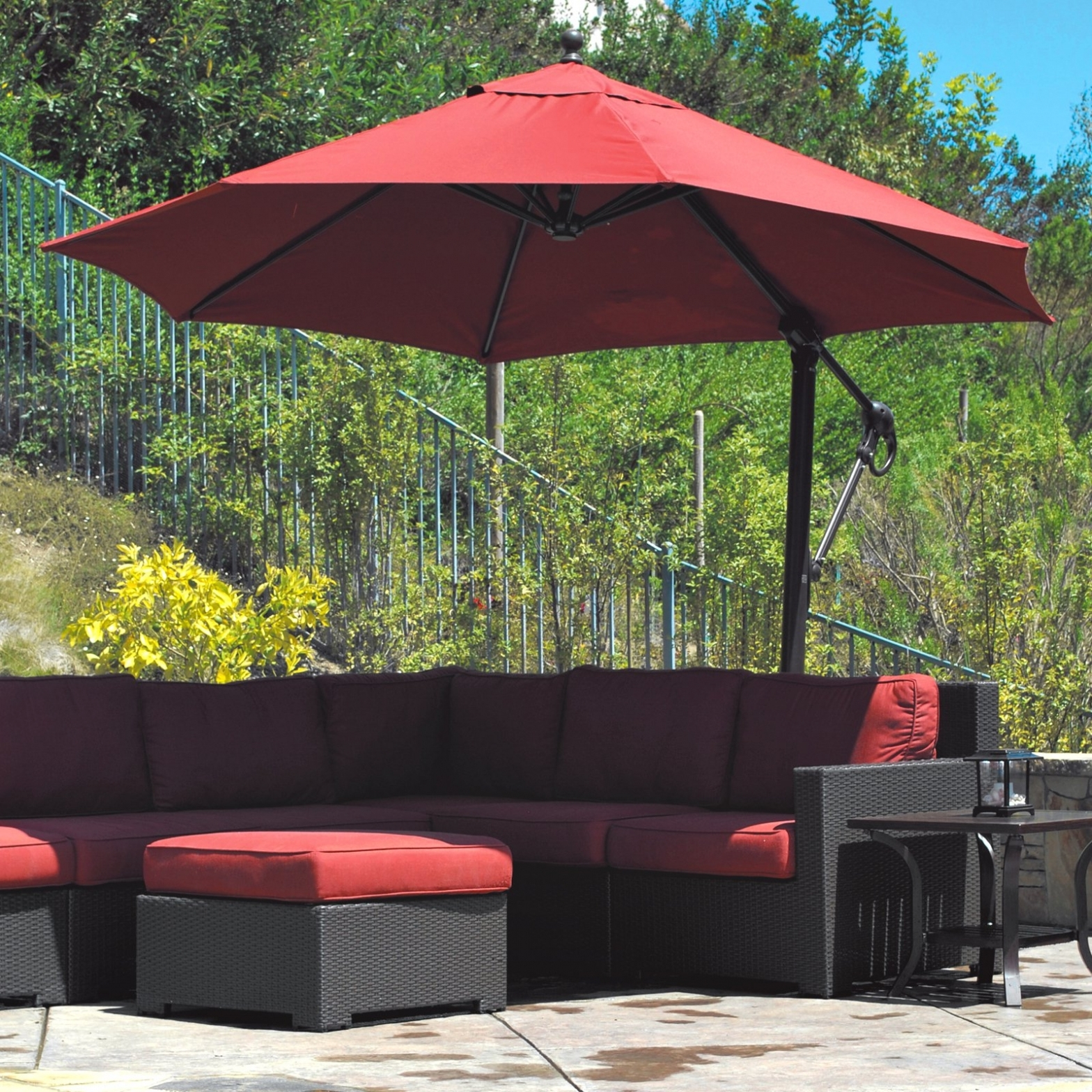 Trendy Ideas & Tips: Offset Patio Umbrellas Best Offset — The Home Redesign Regarding Offset Patio Umbrellas (Gallery 8 of 20)