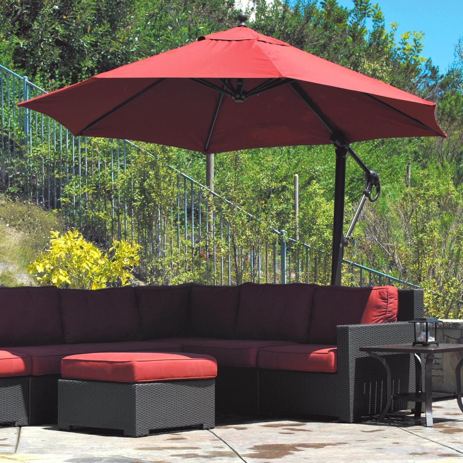 Trendy Ideas & Tips: Offset Patio Umbrellas Best Offset — The Home Redesign Regarding Offset Patio Umbrellas (View 8 of 20)