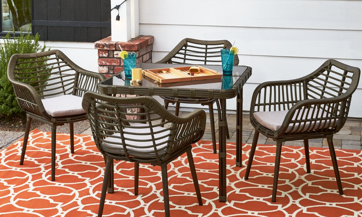 Trendy Patio Umbrellas For Small Spaces With How To Choose Patio Furniture For Small Spaces – Overstock (View 2 of 20)