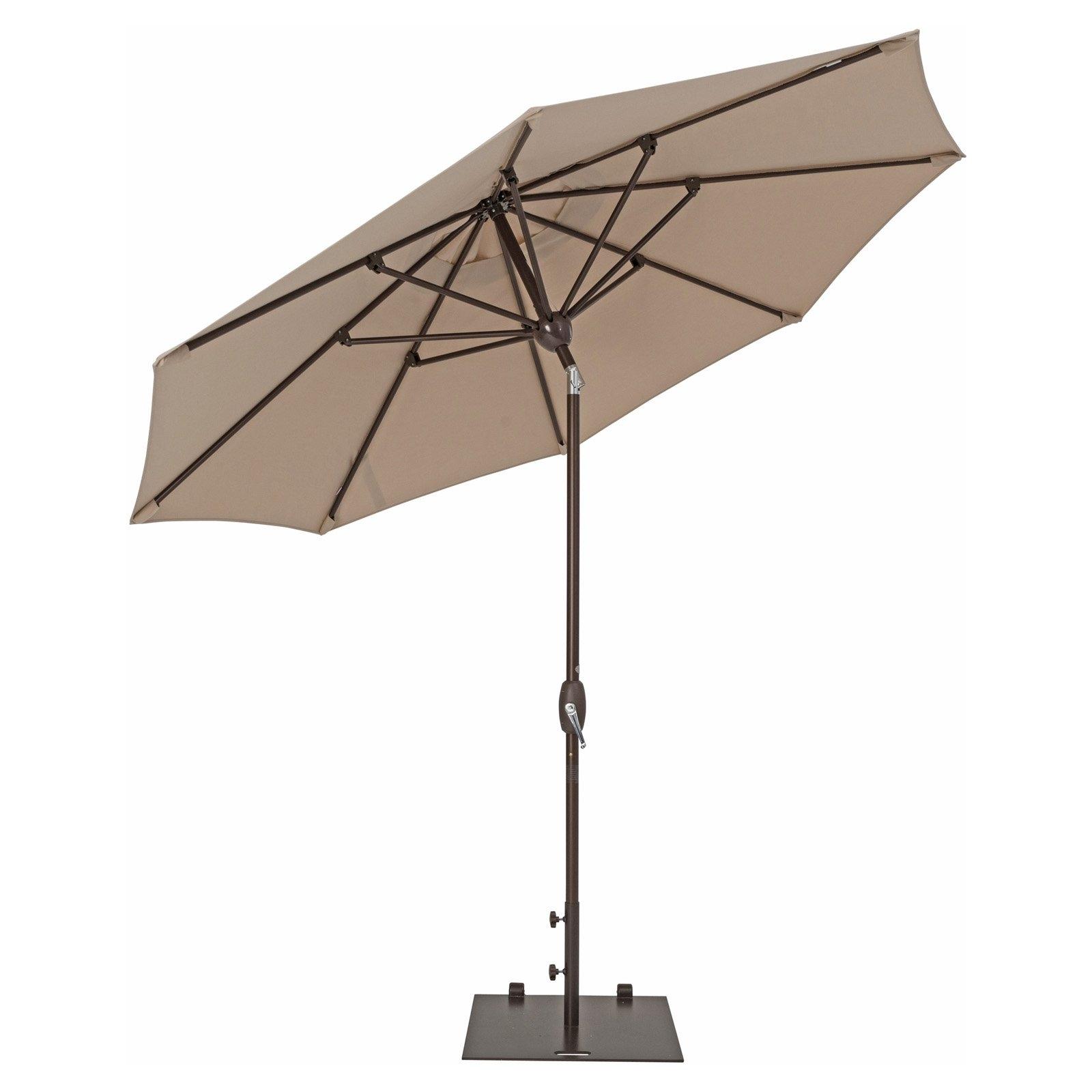 Trueshade Plus 9' Market Umbrella With Sunbrella Fabric, Auto Tilt Inside Trendy Patio Umbrellas With Sunbrella Fabric (View 10 of 20)